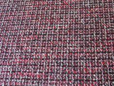 Tissu Tweed Rouge / Bordeaux / Noir / Écru en vente sur TheSweetMercerie.com