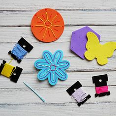A fun set of homemade sewing cards is great for travel, kids home sick and for teaching the fundamentals of needlework!
