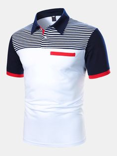 Preppy, Short Sleeve Polo Shirts, Golf Shirts, Striped Shorts, Formal, Clothes For Sale, Casual Shirts, Shirt Designs, Men Casual