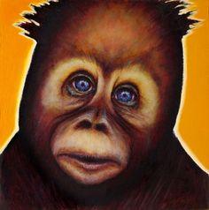 Test Subject /non-human primate # 3 / NO EMOTION by Adam James K - adamjamesk.org