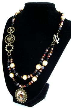 Classic Literature Collection: Steampunk Alice Necklace Set by HuntJewelz