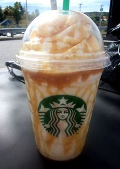 FRENCH VANILLA FRAPPUCCINO! Order a Vanilla Bean Frappuccino with 2 pumps of vanilla syrup, 2 pumps of hazelnut and extra caramel blended in.