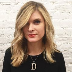 Side-Parted Medium Hairstyle