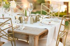 Love these Mr and Mrs place settings - Real Wedding: Stunning Cacti Wedding