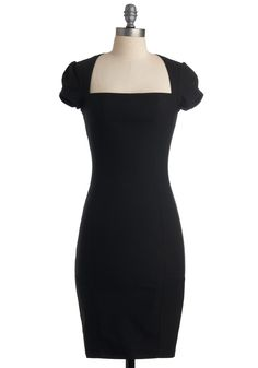 Sleek It Out Dress in Black, #ModCloth