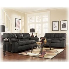 Dominator Black Living Room Group