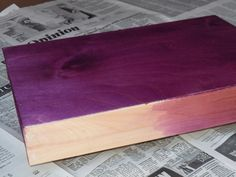 Stain Wood with Rit Dye