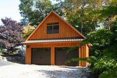 A Kloter Farms 24' x 28' Concord Garage. Garage Plans With Loft, Garage Loft, Garage House Plans, Garage Ideas, Garage Shop, Garage Workshop, Workshop Ideas, Workshop Layout, Garage Studio