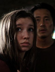 Glenn and Enid in The Walking Dead Season 6 Episode 9 | No Way Out