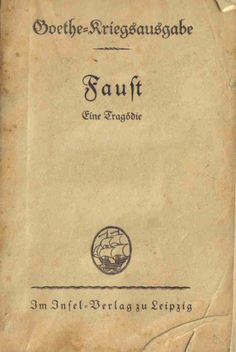 Edition of Faust from 1938