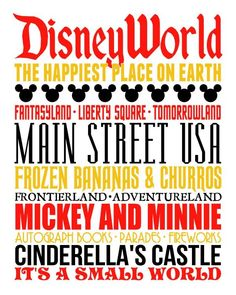 Disney World Subway Art and 20 FREE Disney Printables - Crafts, Coloring, Planning, Creativity and More on Frugal Coupon Living.