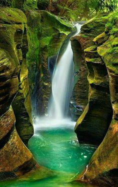 Corkscrew falls Ohio USA