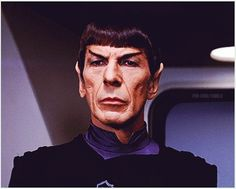 Spock, doing dark and mysterious rather well.