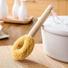 Astra shop 1pc Natural Kitchen Pot Brush Wooden Handle Pan Cleaning Brush Nonstick Pan Cleaner Dishwashing Brush