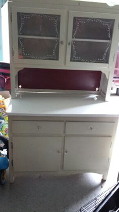 $37.00 vintage cupboard from goodwill. Going  to make it a potting bench....