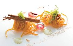 Spaghetti with tuna roe,marinated anchovies and lemon sauce with Chef Franco Ciccio Sultano!