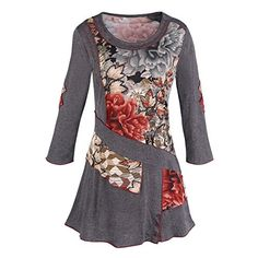 Parsley & Sage - Fig Leaf, 3/4 sleeve v-neck tunic top in a casual floral style Parsley & Sage http://www.amazon.com/dp/B00MR51J06/ref=cm_sw_r_pi_dp_a3bjwb0ZJ3Q2Z