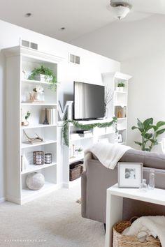 Our Ikea Hack :: DIY Built-In Bookcase - Saffron Avenue : Saffron Avenue