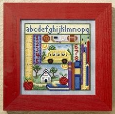 """MH148203 - School Days (2008) - Mill Hill - Buttons and Bead Kits - Autumn Series Kit Includes: Beads, ceramic button, perforated paper, needles, floss, chart and instructions. Mill Hill frame GBFRM9 sold separately Size: 5"""" x 5"""""""