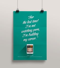 Thanks Pornhub // Posters by dimitra karagianni, via Behance