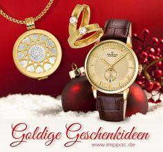 Das Fest der Liebe bietet Ihnen die Gelegenheit Ihre Zuneigung über ein ganz besonderes Geschenk auszudrücken. Zum Weihnachtsfest bietet Imppac hochwertige Uhren und Goldschmuck an. Beliebt sind in diesem Jahr auch rosevergoldete Schmuckstücke aus Silber - Lassen Sie sich von unseren Geschenkideen zu Weihnachten inspirieren... Accessories, Watches Online, Special Gifts, Gold Jewelry, Most Popular, Silver, Weihnachten, Jewelry