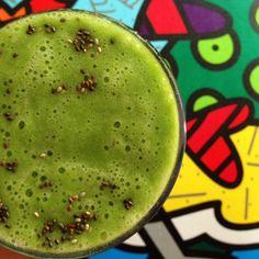 Suco verde com banana