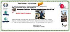 TESORO. Efraín Pardo Moreno Solidaridad Internacionalista