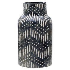 Textured Ceramic Vase - Black - Threshold™ : Target