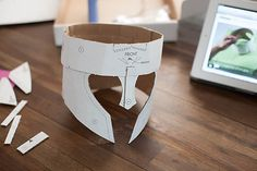 Get your head in it! Kid Inspiration  - DIY Cardboard Warrior Helmets