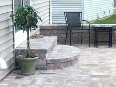18 Best Patio Terrace Images Backyard Patio Gardens Balcony   Back Door Step Designs   Stone Veneer   Step Down   Paver   Brick   Block Paving Step