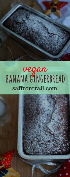 This is how a simple banana bread gets a Christmas makeover #vegan #christmasgifts #christmas #christmascake #SPICE #ginger