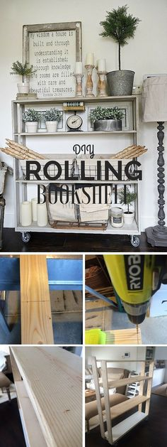 Check out the tutorial: #DIY Rolling Bookshelf @istandarddesign