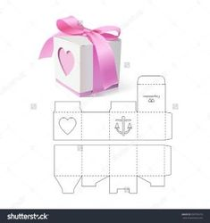 Retail Gift Box with Die Cut Template - Regalos Diy Gift Box, Diy Box, Diy Gifts, Gift Boxes, Paper Gifts, Diy Paper, Paper Box Template, Gift Box Templates, Papier Diy