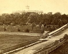 View of Pennsylvania Hall, Gettysburg College, July, 1863 Tyson Brothers American Civil War, American History, Gettysburg College, My Family History, Historical Photos, Old Photos, Battle, Civil Wars, Pictures