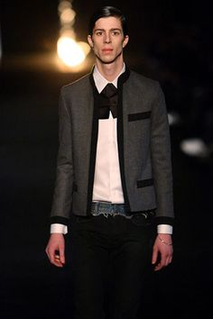 Fshn House - Hedi Slimane · Dior Homme Fall 2006 Gray Jacket with Black  Details Cashmere Jacket, Dandy, Daily Fashion dad3be4cea7