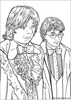 Harry Potter And The Goblet Of Fire Coloring Book Page
