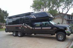 It looks great, just seems a bit heavy. Off Road Camping, Truck Camping, Diesel Trucks, Ford Trucks, Pickup Trucks, Cool Campers, Rv Campers, Adventure Campers, Drift Trike