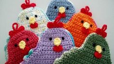 [Free Pattern] Adorable Little Chicken Potholder To Brighten Up Your Kitchen! - Knit And Crochet Daily