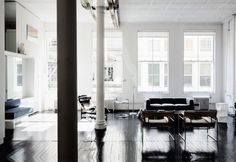 A lovely black/white NYC loft