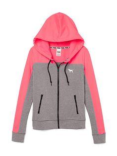 Perfect Funnel Neck Full-Zip Hoodie - PINK - Victoria's Secret