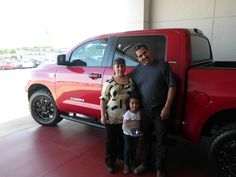 Emilio & Family with their new purchase of a 2013 Toyota Tundra! Congratulations & Welcome to the Toyota of Ardmore Family!
