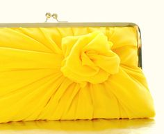 Bright Yellow Clutch
