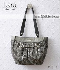 "899da9f4e3 The Kara for Demi Base Bags boasts an undeniable ""wow factor"" that  definitely leaves a lasting impression. You'll love Kara's sexy faux  leather snakeskin ..."