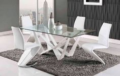 Dior Dining Set Furniture Care Home White Table Elegant