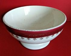 French Vintage Ceramic Cafe au Lait / Coffee Bowl SARREGUEMINES   A1053