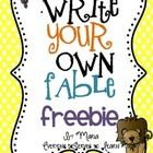 Students can self-author an original fable using this graphic organizer. Choose from characters, settings, and morals, create a problem and solution, and design a BME.