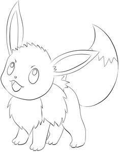 133 Eevee Lineart  by ~lilly-gerbil