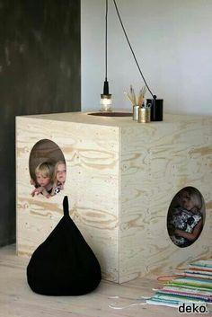 Leuke houten kinder hut