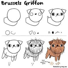 How to draw a Brussels Griffon using simple shapes. I may do a smooth coated…