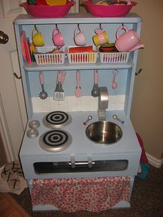 diy play kitchen - from a night stand